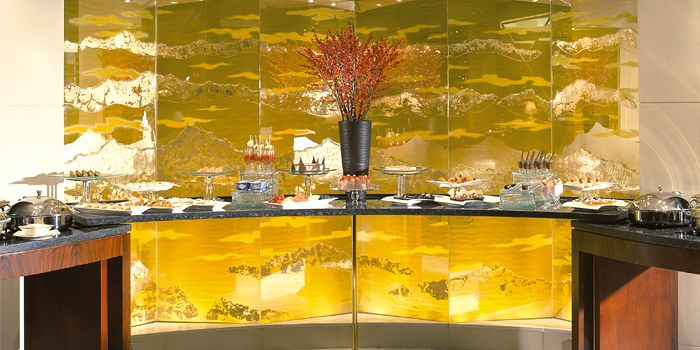 Buffet Table, Lobby Lounge, Kowloon Shangri-La, Tsim Sha Tsui East, Hong Kong