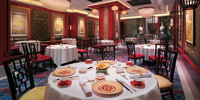 Main Dining Hall in Shang Palace in Kowloon Shangri-La in Tsim Sha Tsui East, Hong Kong