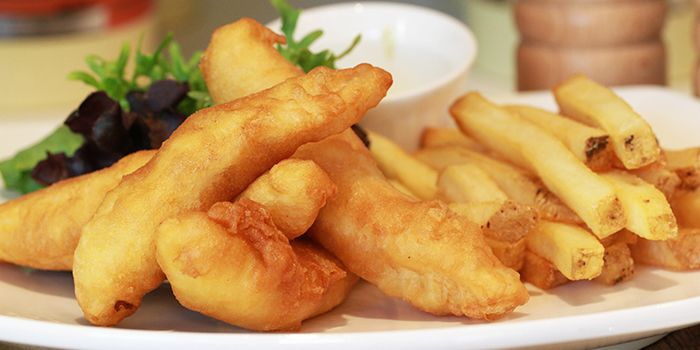 Fish and Chips from Benjamin Browns in Orchard, Singapore
