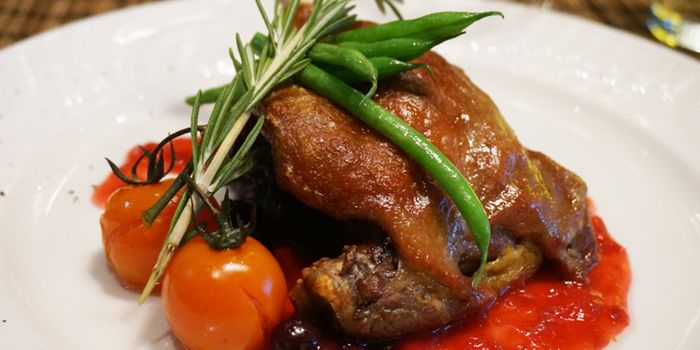 French Confit Duck with Raspberry Sauce, Le Paradis, Tsim Sha Tsui, Hong Kong