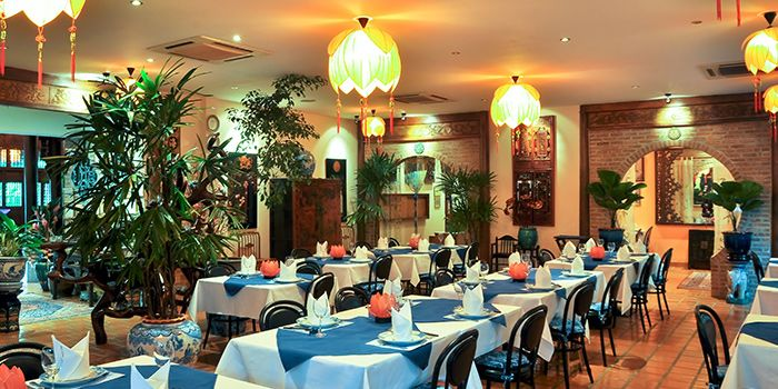 Dining Room of Le Dalat in Upper Sukhumvit, Bangkok