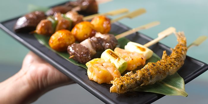 Assorted Skewers from Bar Canary in Grand Park Hotel in Orchard, Singapore