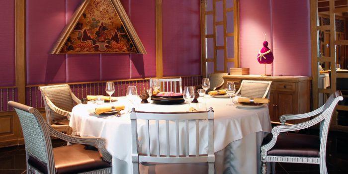 Dining Area in Benjarong Restaurant in Dusit Thani Bangkok in Silom, Bangkok