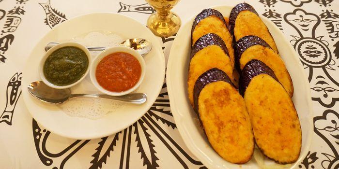 Fried Eggplant with Fresh Nepali Herbs, Nepal Restaurant & Bar, Soho, Hong Kong