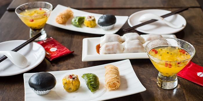 Dim Sum Spread from Red House Seafood (Prinsep) in Dhoby Ghaut, Singapore