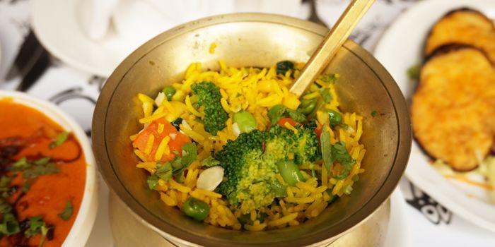 Saffron Flavoured Fried Rice, Nepal Restaurant & Bar, Soho, Hong Kong