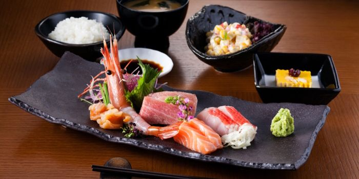 Sashimi Lunch Set, Gonpachi, Causeway Bay, Hong Kong