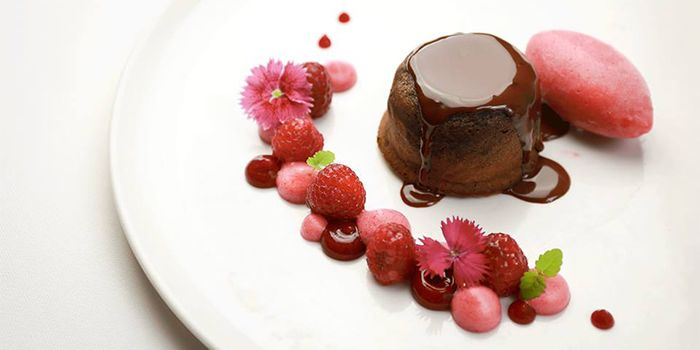Chocolate Fondant from FLUTES Restaurant on Stamford Road, Singapore