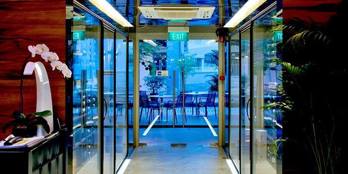 Courtyard of ALBA 1836 Italian Restaurant in Duxton, Singapore