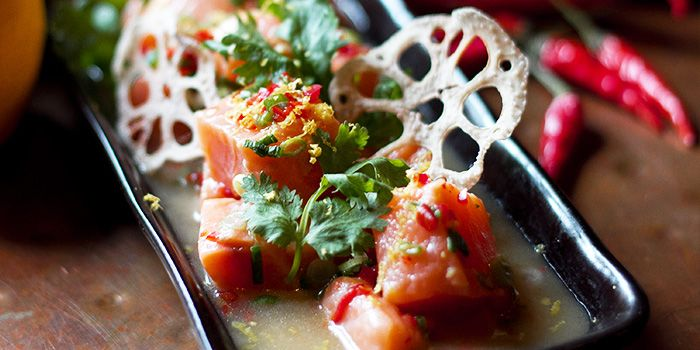 Salmon with Lotus Roots from The Spiffy Dapper in Tanjong Pagar, Singapore