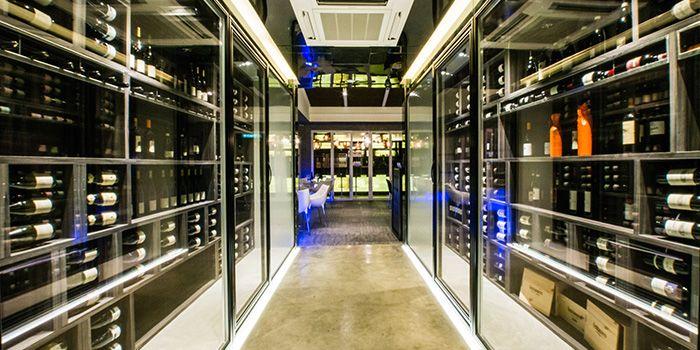 Wine Cellar of ALBA 1836 Italian Restaurant in Duxton, Singapore