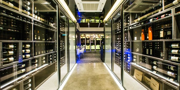 Wine Cellar of ALBA 1836 Italian Restaurant in Duxton, Singapore