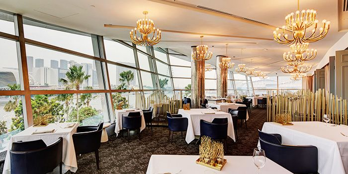 Dining Room of Forlino at One Fullerton in Raffles Place, Singapore
