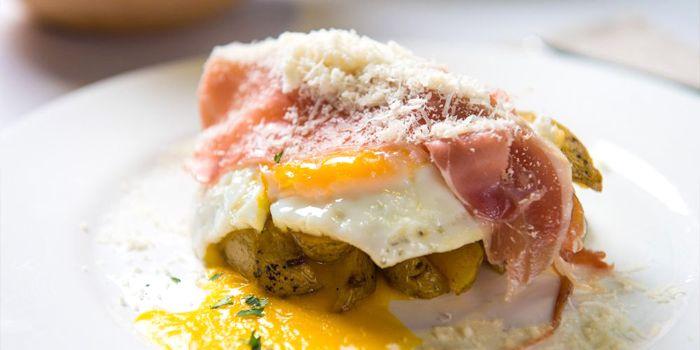 Marble Potato with Serrano Ham, Cheese and Egg, Sabor, Sheung Wan, Hong Kong