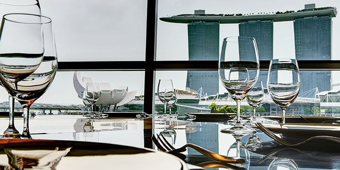 Table Setting of Riviera Forlino at One Fullerton in Raffles Place, Singapore