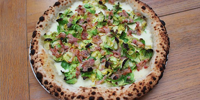 Brussel Sprout and Bacon Pizza from Motorino in Clarke Quay, Singapore
