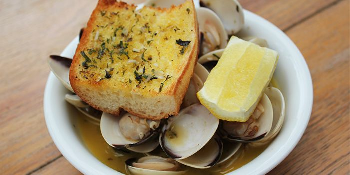 Clams from Motorino in Clarke Quay, Singapore