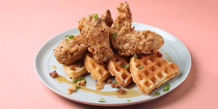 Waffles & Wings from OverEasy (Orchard) in Orchard, Singapore