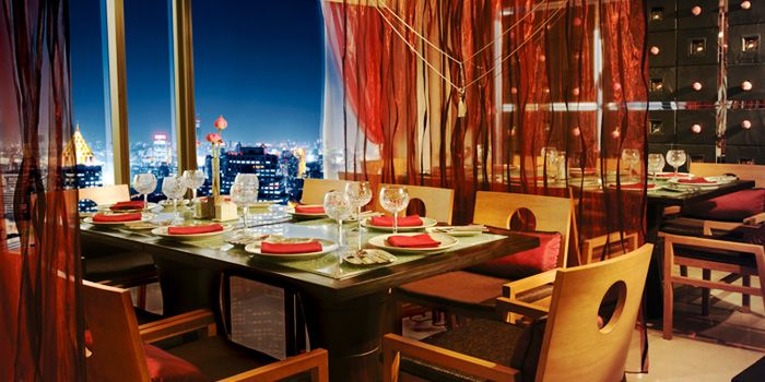 Dining Area of Saffron at Banyan Tree Bangkok in Sathorn, Bangkok