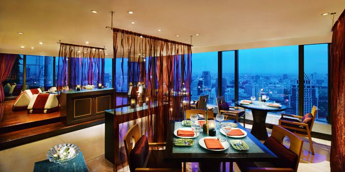 Interior of Saffron at Banyan Tree Bangkok in Sathorn, Bangkok