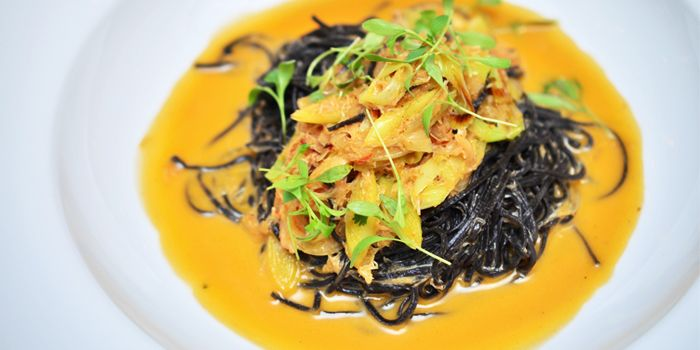 Squid Ink Spaghetti from La Tavola & Wine Bar at Renaissance Bangkok Ratchaprasong Hotel in Ploenchit, Bangkok