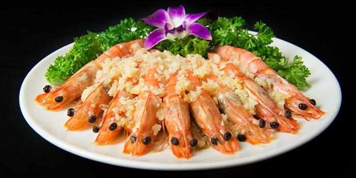 Steamed Prawns from Home Of Seafood in East Coast, Singapore