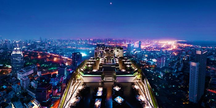 Top View of Vertigo at Banyan Tree Bangkok in Sathorn, Bangkok