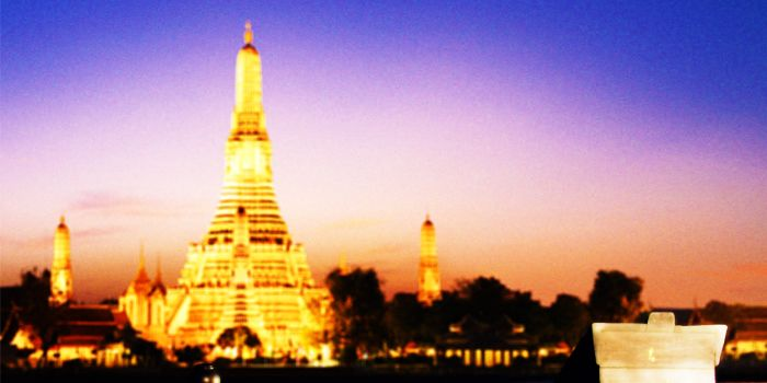 View from Apsara at Banyan Tree Bangkok in Sathorn, Bangkok