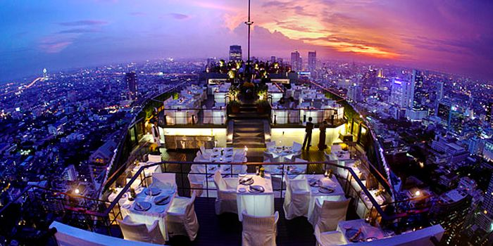 View of Vertigo at Banyan Tree Bangkok in Sathorn, Bangkok