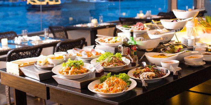 Buffet from Horizon Cruise at Shangri-La Hotel, Bangkok