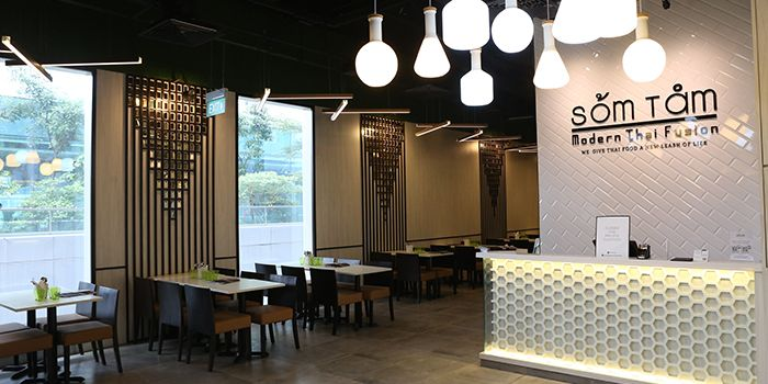 Interior of Som Tam in Orchard, Singapore