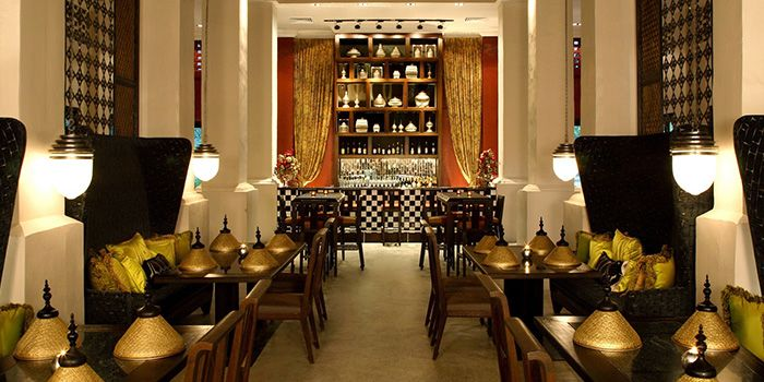 Interior of Jim Thompson in Dempsey, Singapore