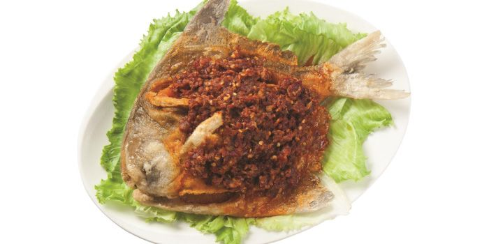 Sambal Promfret from Lai Huat Seafood Fish Head Steamboat (East Coast) in East Coast, Singapore