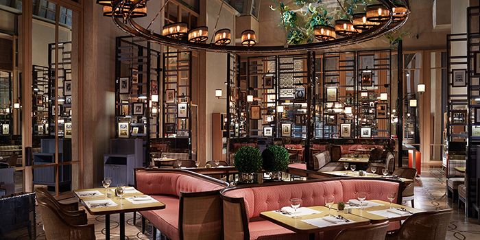 Interior of Colony in The Ritz-Carlton, Millenia Singapore in City Hall, Singapore