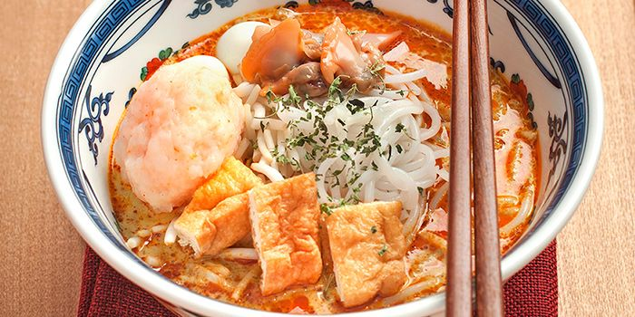 Laksa with Lobster Ball from Colony in The Ritz-Carlton, Millenia Singapore in City Hall, Singapore