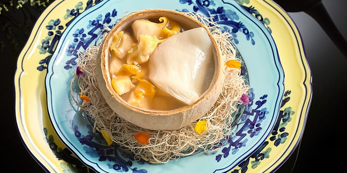 Double Boiled Sea Whelk Soup from Summer Pavilion in The Ritz-Carlton, Millenia Singapore in City Hall, Singapore