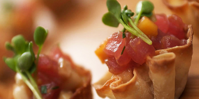 Tuna Appetizer form The Dining Room Restaurant at Grand Hyatt Erawan, Bangkok