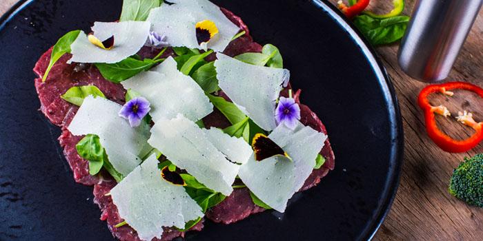 Fassone Beef Carpaccio from Volti Ristorante & Bar at Shangri-La Hotel, Bangkok