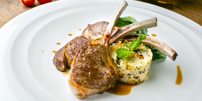 Grilled Lamb Chop from Volti Ristorante & Bar at Shangri-La Hotel, Bangkok