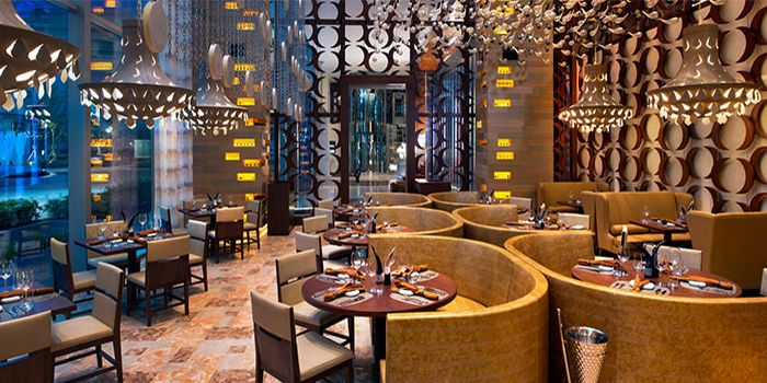Interior of SKIRT in W Hotel in Sentosa, Singapore