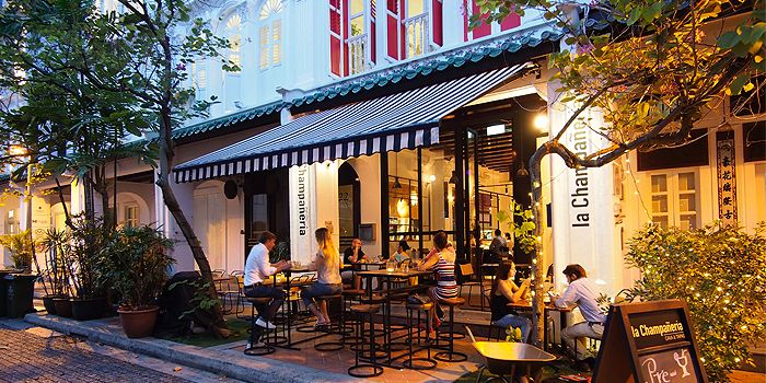 Exterior of Bar·Celona in Duxton Hill, Singapore