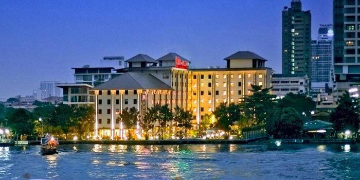 River View from TASTE Restaurant at Hotel ibis Bangkok Riverside on Charoen Nakorn Soi 17, Bangkok