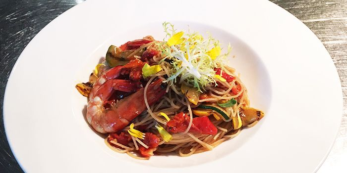Seafood Spaghetti from The Garden at Sofitel Singapore Sentosa Resort & Spa in Sentosa, Singapore