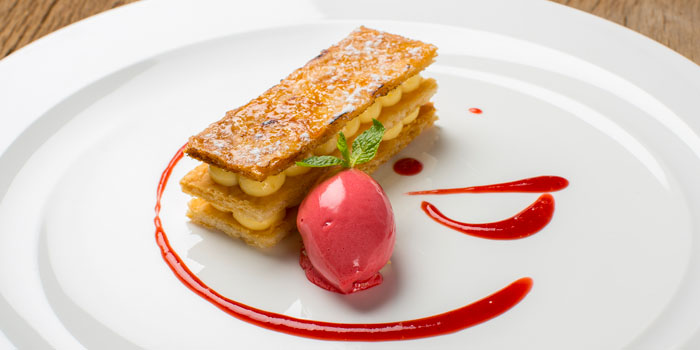 Vanilla Millefeuille from Volti Ristorante & Bar at Shangri-La Hotel, Bangkok