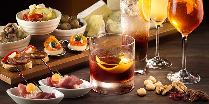 Aperitivo Tradition from Chihuly Lounge in The Ritz-Carlton, Millenia Singapore in City Hall, Singapore