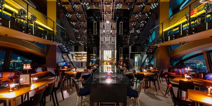 Dining Area from Vertigo TOO at Banyan Tree Bangkok in Sathorn, Bangkok