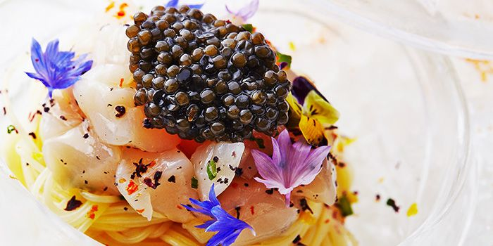 Pasta with Caviar from Garibaldi Italian Restaurant & Bar in Bugis, Singapore