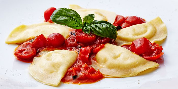 Ravioli from Garibaldi Italian Restaurant & Bar in Bugis, Singapore