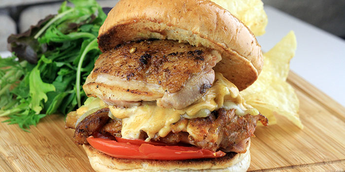 Grilled Chicken Burger from Two Blur Guys in Tanjong Pagar, Singapore