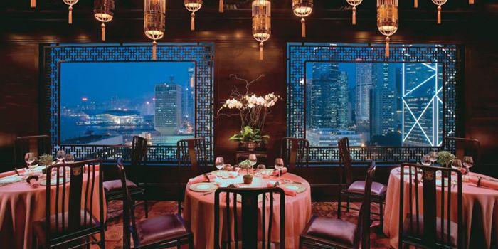 Interior of Man Wah, Central, Hong Kong